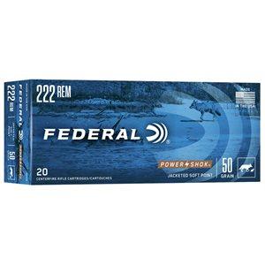 FEDERAL 222REM 50 GRAIN SOFT POINT