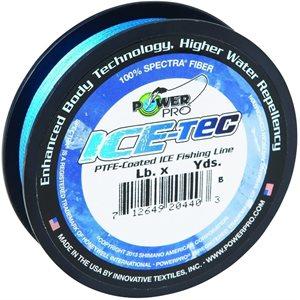 POWER PRO ICE-TEC ICE FISHING LINE BLUE 15 LB TEST 50 YD