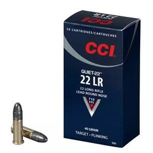 CCI QUIET 22 22LR LEAD ROUND NOSE 22 LONG RIFLE 710 FPS
