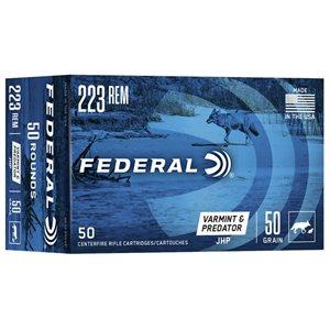 FEDERAL AMERICAN EAGLE 223 REM 50 GRAIN JHP