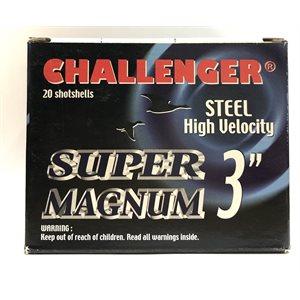 """CHALLENGER MUNITION STEEL SUPER MAGNUM 12GA 3"""" 1 1 / 4 OZ #BBB"""