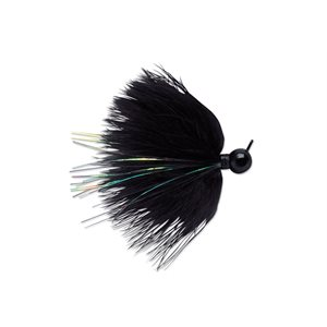 PRO SERIES MARABOU JIGS HAMECON POWER GAP BLACK 1 / 4