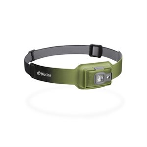 BIOLITE HEADLAMP 200 LUMENS USB RECHARGEABLE GREEN