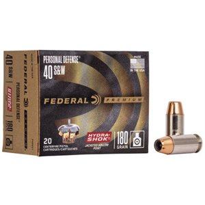 FEDERAL PREMIUM PERSONAL DEFENSE 40 S&W 180GR 20 / BOX
