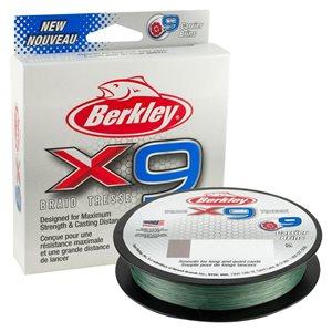 BERKLEY X9 BRAID TRESSE 30LB 165YD COLOR GREEN